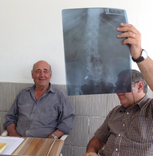 Charalambos, Symon and the x-ray of the bullet which remains in his back
