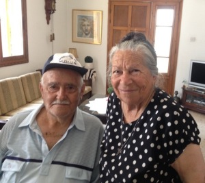 Maria with her Turkish Cypriot friend Salih, reuniting after 40 years. 23 May 2015.
