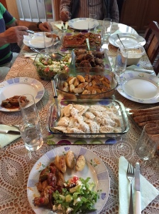 A Cypriot feast prepared by Anastasia